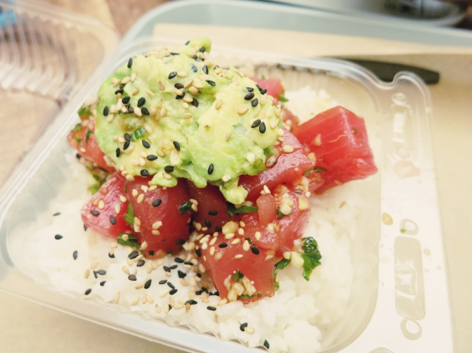 "poke bowl from ""Mar"": $8"